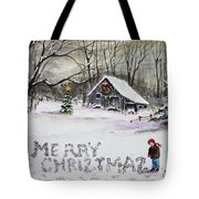 Little Snow Writer Tote Bag