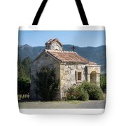 Little Stone Chapel In Vineyards Of Napa Valley Tote Bag
