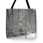 Little Tree Big Snow Tote Bag