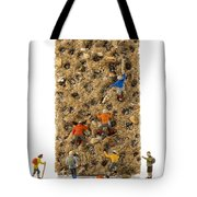 Little World Puppets At Climbing Wall Tote Bag