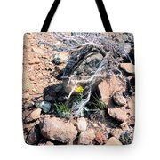 Little Yellow Flower In The Wild Tote Bag