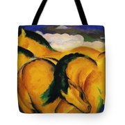 Little Yellow Horses 1912 Tote Bag