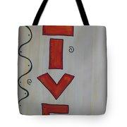 Live Acrylic Watercolor Tote Bag