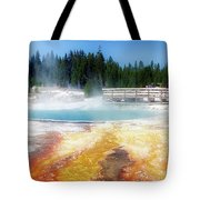 Live Dream Own Yellowstone Park Black Pool Text Tote Bag