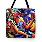 Live Life On Fire Tote Bag