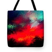 Splashing Colors Of What I Seen Tote Bag