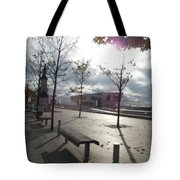 Liverpool In The Fall Tote Bag