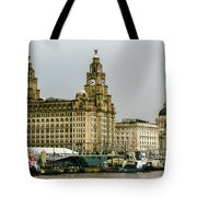 Liverpool Waterfront Tote Bag