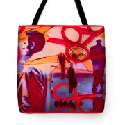 Living Cutouts Drifting Into The Spirit World/we Are All Born Asleep Tote Bag