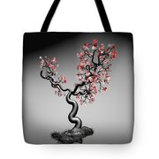 Geometric Tree In Water 1 Tote Bag