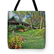 Living In Paradise Tote Bag