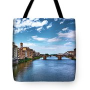 Living Next To The Arno River Tote Bag