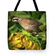 Living On Sunflowers Tote Bag