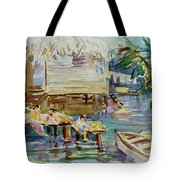 Living On The Water Tote Bag