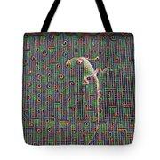 Lizard On A Screen Porch Tote Bag