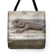Lizard On Deck Tote Bag