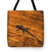 Lizard On Sandstone Tote Bag