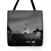 Ljubljana Castle In Black And White Tote Bag