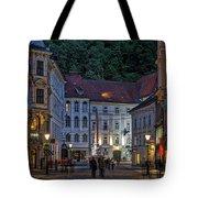 Ljubljana Night Scene - Slovenia Tote Bag