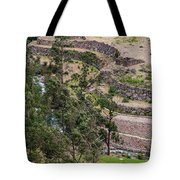 llactapata Site and Urubamba River Tote Bag
