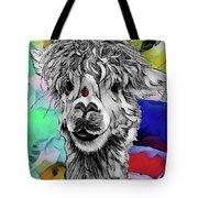 Llama And Lady In Splash Tote Bag