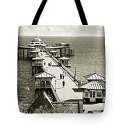 Llandudno Pier North Wales Uk Tote Bag