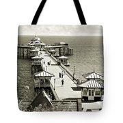 Llandudno Pier North Wales Uk Tote Bag