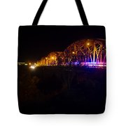 Llano Bridge At Night Tote Bag