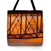 Llano Bridge Reflection Tote Bag