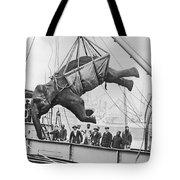 Loading Elephant, 1930s Tote Bag