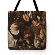 Loarte, Alejandro De Madrid , 1590 - Toledo, 1626 The Poultry Vendor 1626. Tote Bag