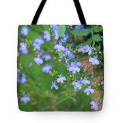 Lobelia Flowers Tote Bag