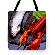 Lobster And Trout Tote Bag