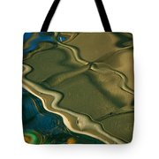 Lobster Boat Reflection Abstract #2 Tote Bag