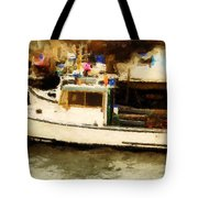 Lobster Boat Stonington Ct Tote Bag