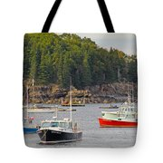 Lobster Boats In Bar Harbor Tote Bag by Jack Schultz