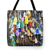 Lobster Buoys And Nets - Maine Tote Bag