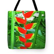 Lobster Claw Heliconia Tote Bag