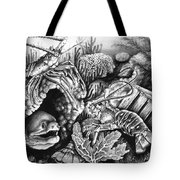 Lobster Collage Tote Bag