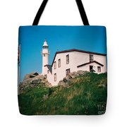 Lobster Cove Lighthouse Tote Bag