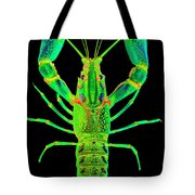 Lobster Crawfish In The Dark - Greenlime Tote Bag