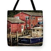 Lobster Market In Boothbay Harbor Tote Bag
