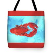 Lobster On Turquoise Tote Bag