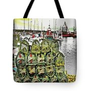 Lobster Pots Kilmore Quay, Wexford, Ireland, Poster Effect 1a Tote Bag