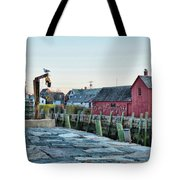 Lobster Pots On Rockports T Wharf Tote Bag by Jeff Folger