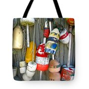 Lobster Trap Buoys 1 Tote Bag