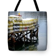 Lobster Traps In Winter Tote Bag