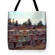 Lobster Traps Tote Bag by Jeff Kolker