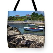 Local Boats In Harbour Tote Bag