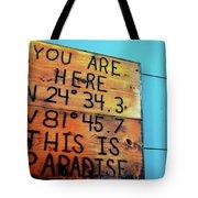 Location Paradise Tote Bag